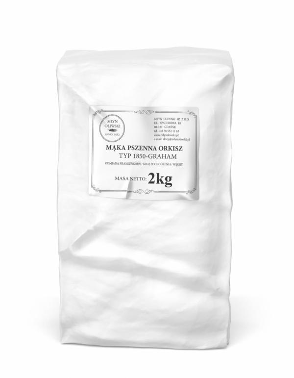 Mąka pszenna orkiszowa typ 1850 (graham) - 2kg