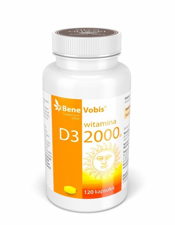 Witamina D3 2000IU - 120 kaps