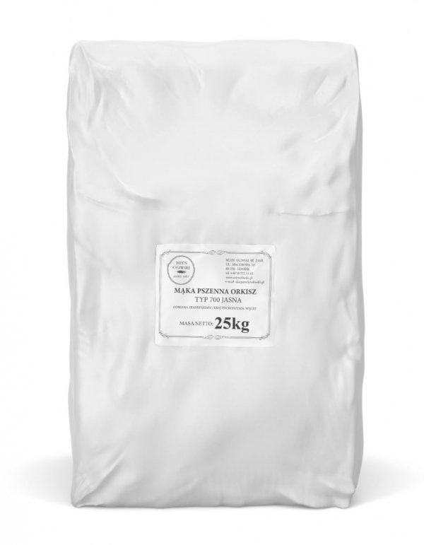 Mąka pszenna orkiszowa typ 700 (jasna) - 25kg
