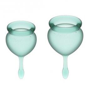 Satisfyer Feel Good Menstrual Cup Set Dark Green