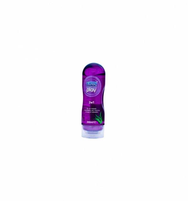Żel intymny do masażu Durex Play 2w1 Fiolet aloes 200ml - lubrykant na bazie wody
