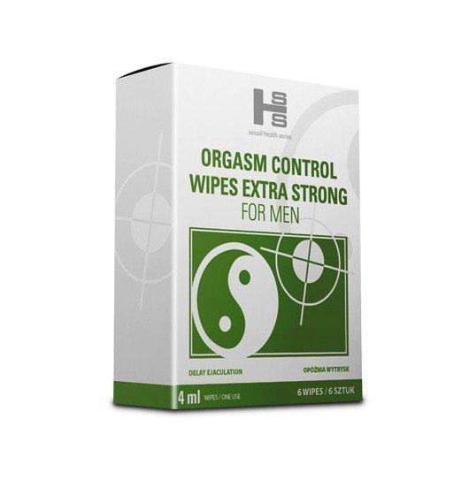 Orgasm Control Wipes chusteczki 6sztuk