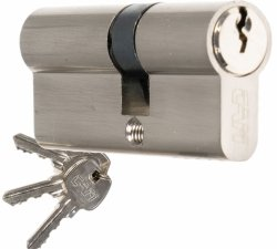 Wkładka CAM EKO 50/50 nikiel zamka drzwi furtki