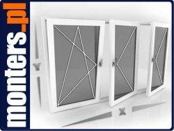 Okno PCV 2340x1280 EKOSUN RU+FIX+RU symetryczne