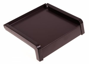 Parapet zewnętrzny stalowy blacha brąz 8019 90mm 1mb
