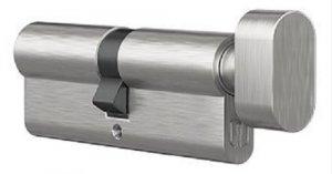 Wkładka z gałką do zamka drzwi Medos 30G/45 nikiel
