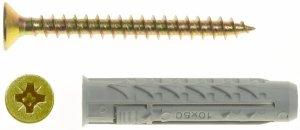 BX10+US6X80/100 Kołek rozporowy BX+wkręt stożkowy