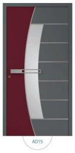 Drzwi wejściowe zewnętrzne Aluprof MB86 wzór AD15