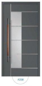 Drzwi wejściowe zewnętrzne Aluprof MB86 wzór AD08