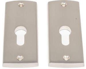 Rozeta DIS srebrna satyn drzwi zamka górnego 116mm