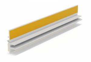 Listwa przyokienna Apu z uszczelką biała 3m