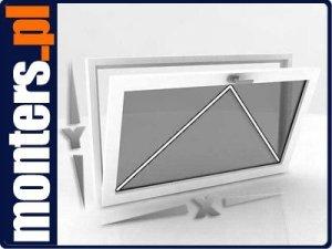 Okno PCV 865x535 uchylne zewn. kolor OVLO 80mm