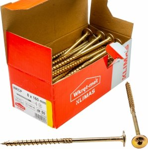 Wkręty ciesielskie talerzowe TX 8x160 drewna 50szt