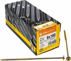 Wkręty ciesielskie talerzowe TX 6x180 drewna 100sz
