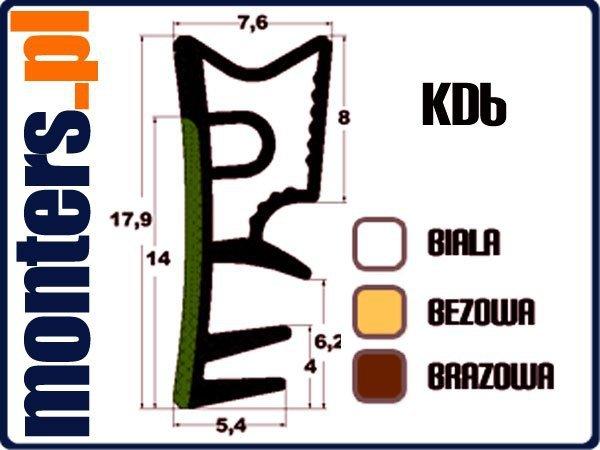Uszczelka do okien drewnianych KD6 brązowa 30m.
