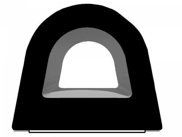 Uszczelka D 12x10 samoprzylepna czarna (SD-54) 1m.