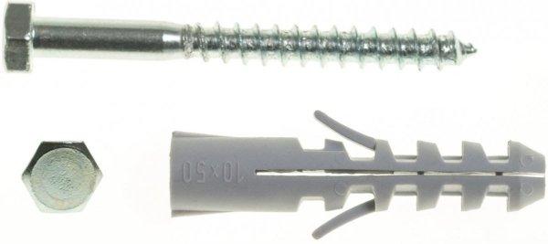 WX10+KL6X60/100 Kołek rozporowy WX+wkręt na klucz