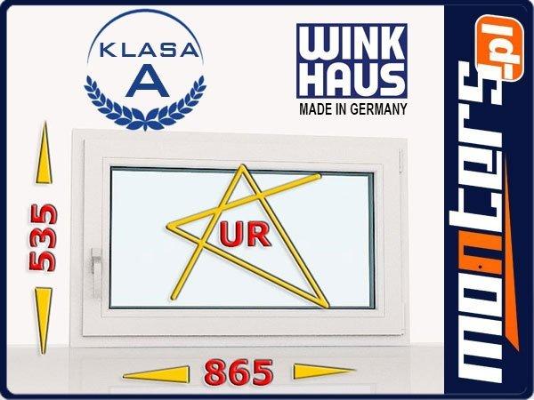 Okno PCV 865x535 uchylno-rozwierne prawe białe