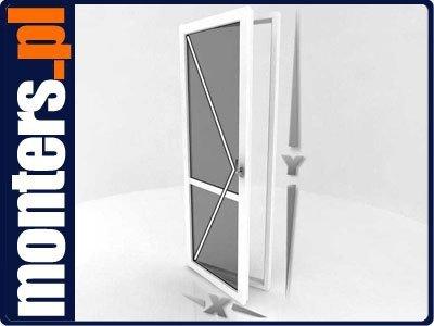 Drzwi balkonowe R 865x2095 lewe białe EKOSUN