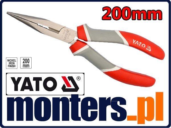 Szczypce wydłużone proste cęgi 200mm YATO 2018