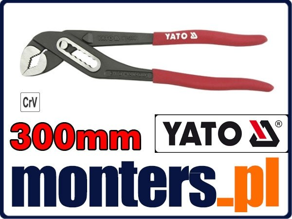 Szczypce nastawne 300mm żabka do rur YATO 2091