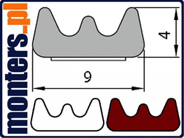 Uszczelka E 9x4 samoprzylepna biała (SD-40) 1m.