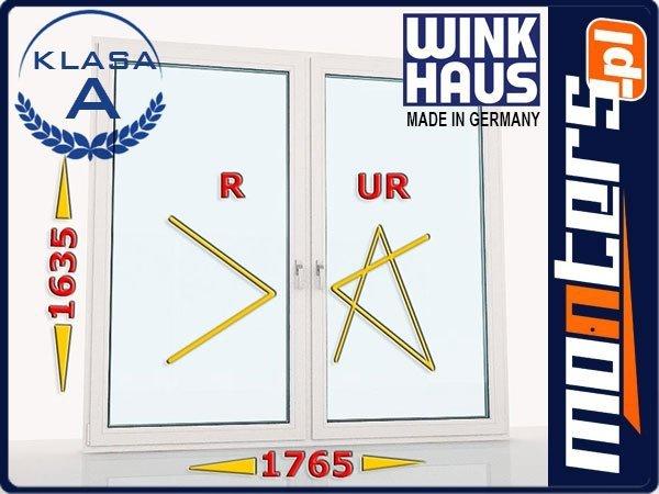 Okno PCV 1765x1635 R+UR prawe białe