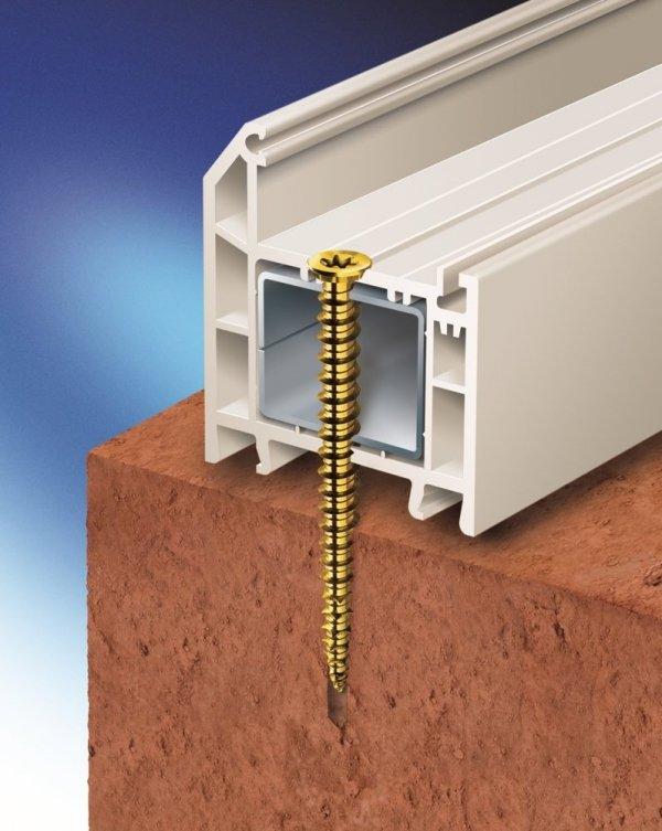 SKO 7,5x132 Wkręt do montażu okien i drzwi 100szt.