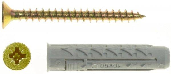 BX10+US6X60/100 Kołek rozporowy BX+wkręt stożkowy