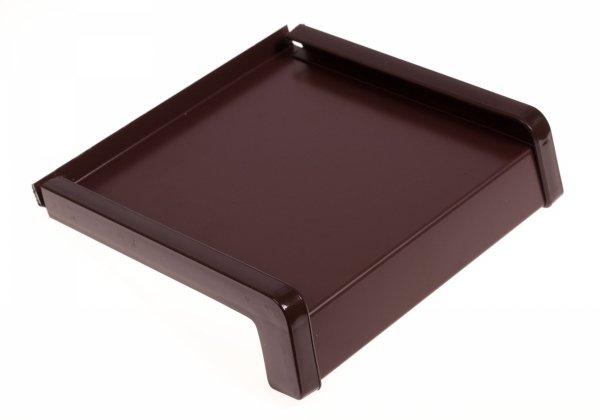 Parapet zewnętrzny stalowy blacha brąz 8017 400mm 1mb