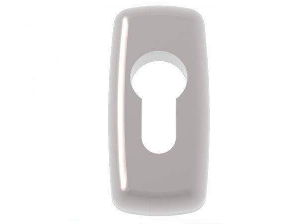 Rozeta Mercury pod wkładkę do drzwi srebrna Silver