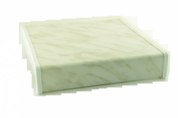 Parapet wewnętrzny plastikowy PCV marmurek 400mm 1mb