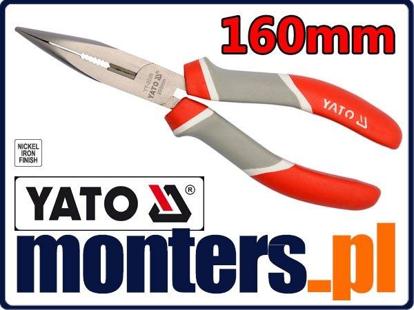Szczypce wydłużone wygięte cęgi 160mm YATO 2026