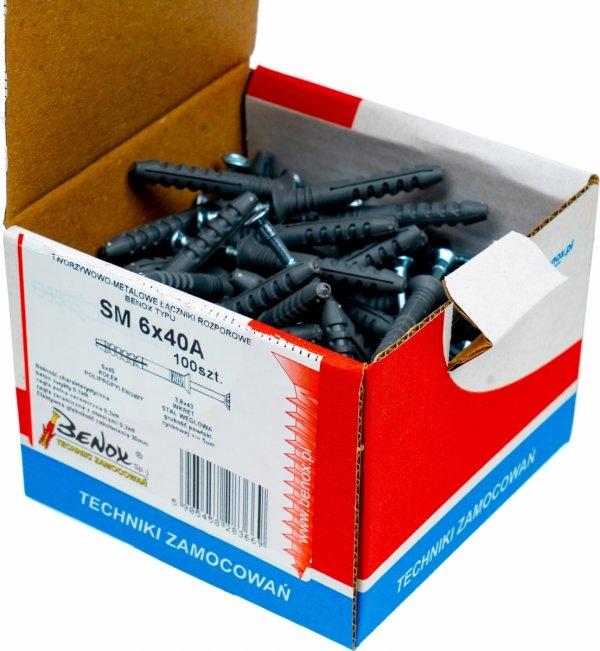 Kołki rozporowe 6x40 A szybkiego montażu 100szt.