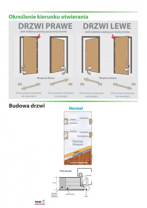 Drzwi wejściowe zewnętrzne Wikęd Premium wzór 9a