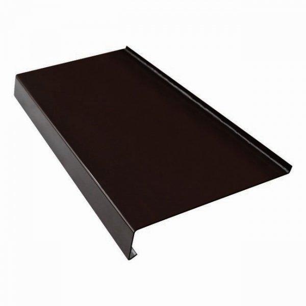 Parapet zewnętrzny stalowy blacha brąz 8019 125mm 1mb