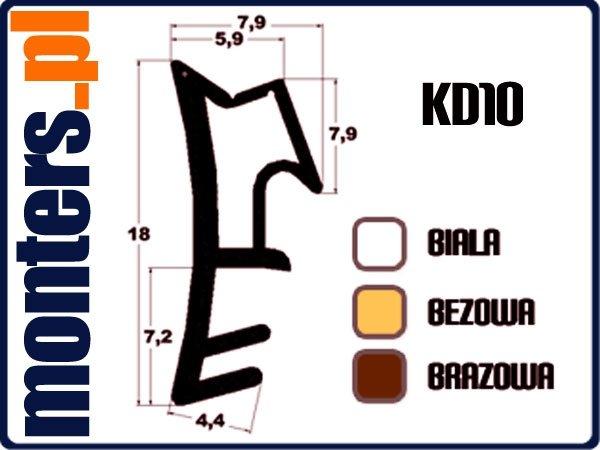 Uszczelka do okien drewnianych KD10 brązowa 1m.
