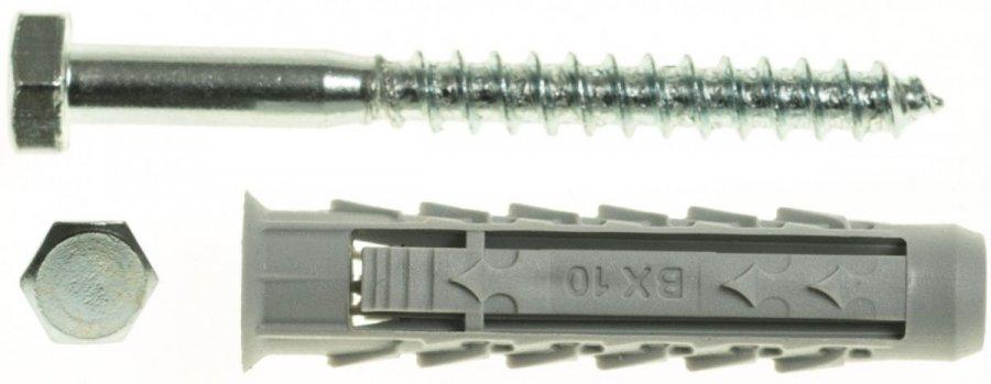 BX10+KL6X60//100 Spreizdübel BX+Schlüsselschraube Dübel mit Schraube