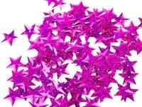 Cekiny Gwiazdki Małe 10mm Róż Mieniący - [ Komplet - 20 sztuk]