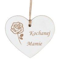 Zawieszka Na Znicz Serce Kochanej Mamie [Komplet 10szt]