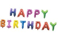 Balon Foliowy Happy Birthday Mix [ Komplet - 5 szt]