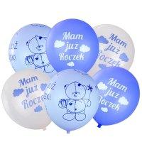 Balony Na Roczek Niebieskie [Komplet - 5 opakowań]