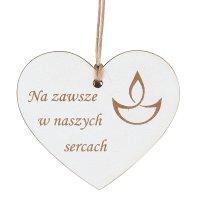 Zawieszka Na Znicz Serce Na zawsze w nasych sercach [Komplet 10szt]