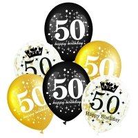 Balony Na 50-tkę [Komplet - 4 opakowania]
