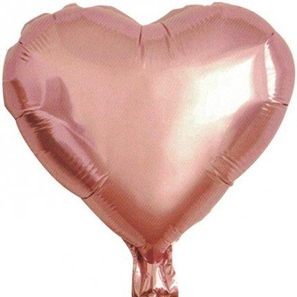 Balony Foliowe Serce 78cm Rose Gold [Komplet - 4 Sztuki]
