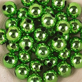 Koraliki Perełki 8mm 10g Kolor Zielony Multi 27 [ Zestaw - 50 Kompletów]