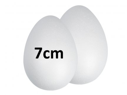 Jajka Styropianowe 7cm [Komplet-Zestaw 1000szt]