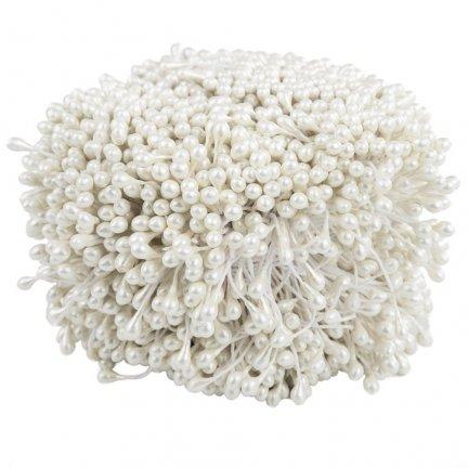 Pręciki Do Kwiatów Białe [Komplet - 5 Pęczków]