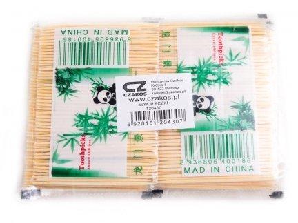 Wykałaczki Drewniane Panda 80szt [ Zestaw - 100 Opakowań]