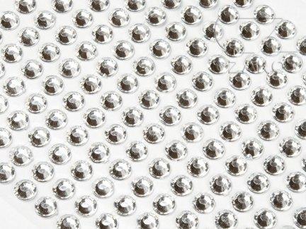 Kryształki samoprzylepne 8mm Transparent  [10 Blistrów]